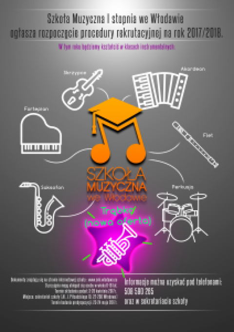 Audycje promujące szkołę muzyczną i jej ofertę